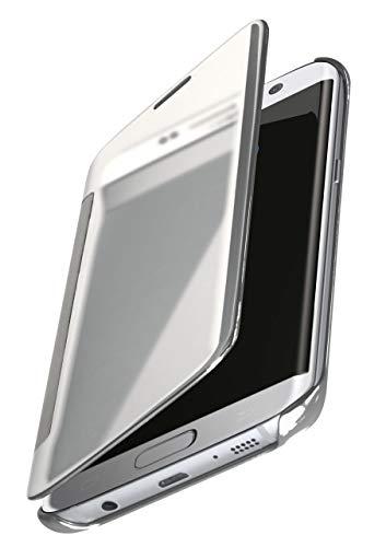 MoEx® Dünne 360° Handyhülle passend für Samsung Galaxy S7 Edge | Transparent bei eingeschaltetem Display - in Hochglanz Klavierlack Optik, Silber