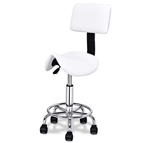 sedia ergonomica estetista COSTWAY Sgabello da Estetista