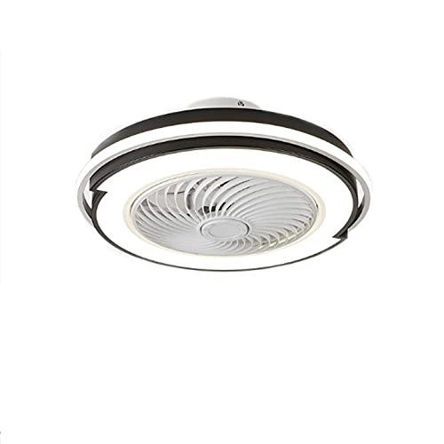 Luz de ventilador de acrílico LED mediterránea Oficina en casa Comedor Sala de estar Dormitorio Techo de estudio personalizado con luz, iluminación multifuncional, luz colgante de 220 V Espacio adecua