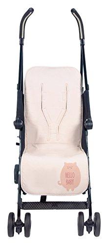 Walking Mum Hello Baby - Colchoneta para silla de paseo, color rosa