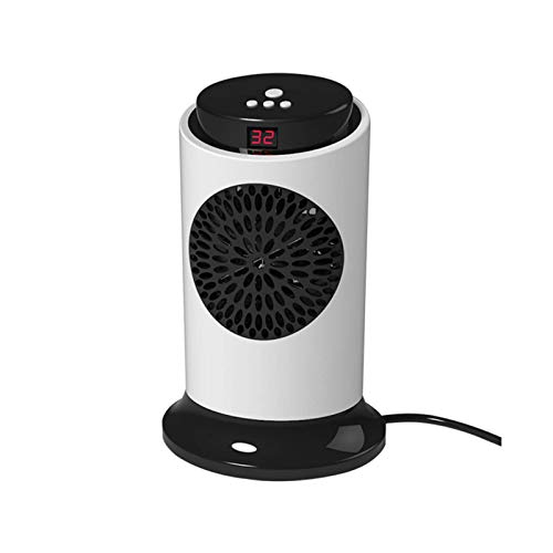 HDCDKKOU Mini Ceramic Heater for Home 700W/2100W 3 Levels Natural or Hot Wind Adjustable Portable Personal Space Heater with Overheat Protection (Color : 700W)