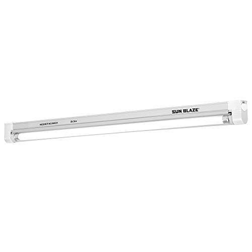 Sun Blaze HGC960315 T5 High Output Fluorescent 21-120 Volt-Indoor Grow Light for Hydroponic & Greenhouse Use-UL Listed, 2 ft. Fixture | 1 Lamp | 120V, Silver