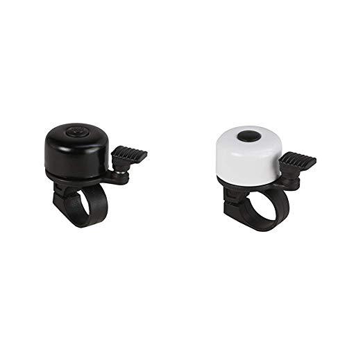 FISCHER Mini Fahrradglocke, schwarz, One Size & Mini Fahrradglocke, weiß, One Size