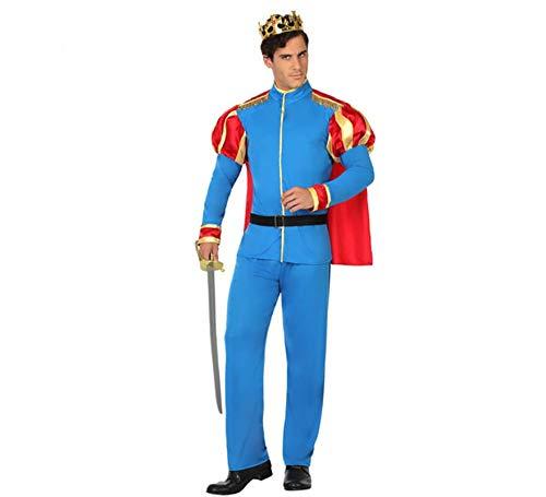 ATOSA disfraz principe hombre adulto azul M