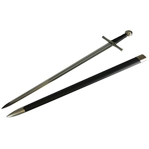 DerShogun Ritterschwert Einhänder mit Klinge aus 1060 Kohlenstoffstahl