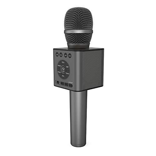 TOSING Draadloze Bluetooth Karaoke Microfoon Speaker 3-in-1 Handheld Zing & Opname Draagbare KTV Player Mini Home KTV Muziek Machine Systeem voor iPhone/Android Smartphone/Tablet Compatibel black-13