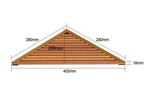 ZNZ Badaccessoires Regal Holz Wasserdicht Dreieck Regal Eckzarge Holz Eckregal Lagerregal Regal
