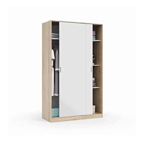 Sistema de herrajes para puerta corredera para 1 o 2 puertas. Peso máximo de la puerta: 55 kg. Opción Soft (2 puertas, con cierre amortiguado).