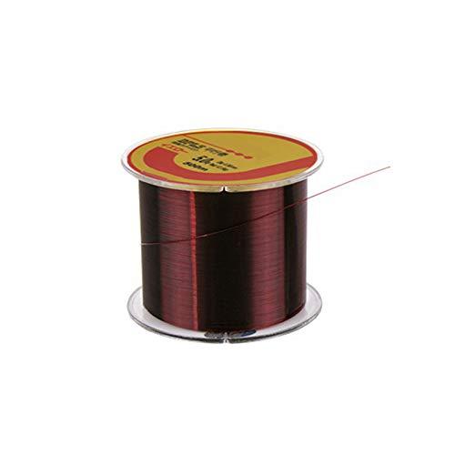 500 m Línea de pesca de nylon rojo alambre de pesca monofilamento línea de pesca fuerte tensión alta carga cuerda paralela hilo hilo resistente a la abrasión (6 (diámetro: 0,4 mm)