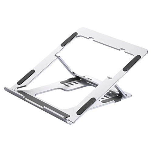 OSALADI Laptop Stand Ventilation Stand Aluminum Alloy Laptop Riser Manual Folding Lift Base Computer Support Shelf for Desktop Travel Home (Silver)