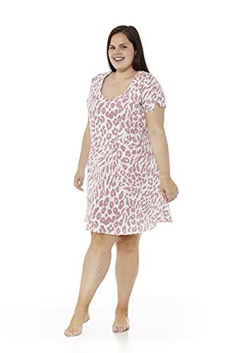 Mabel Intima Nachthemd große größen Damen Sommer Plus Size NachthemdKurzarm Nachthemd große größen 66 Nachthemd XXXXL Damen