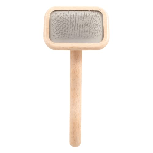 Chris Christensen Dog Brush, Mark I Extra Small Slicker Brush, Groom Like a Professinal, Stainless Steel Pins, Lightweight Beech Wood Body, Ground and Polished Tips