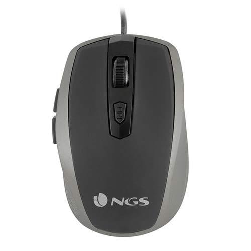 NGS Tick Silver USB Óptico 1600DPI Mano Derecha Plata