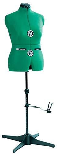 Dritz 20421 Sew-You Dressform with Tri-Pod Stand Adjustable Up to 63 Shoulder Height, Medium, Opal Green