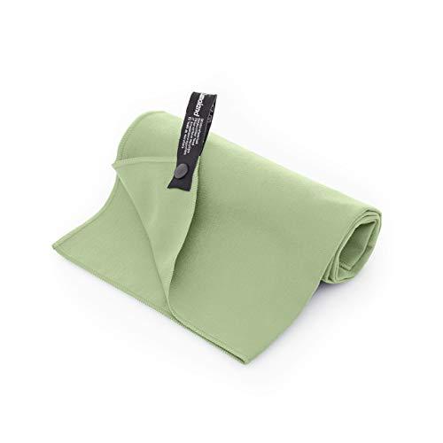 Lumaland Mikrofaser Handtücher Ultra saugfähig Leichte Badetücher 90 x 180 cm Grün