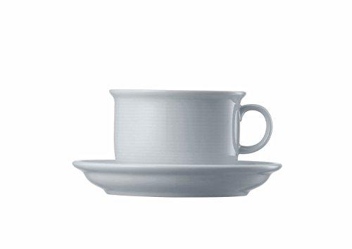 Thomas Trend 14765 Cappuccino-Tasse mit Untertasse, Porzellan, Weiß, 320 ml, 2-teilig