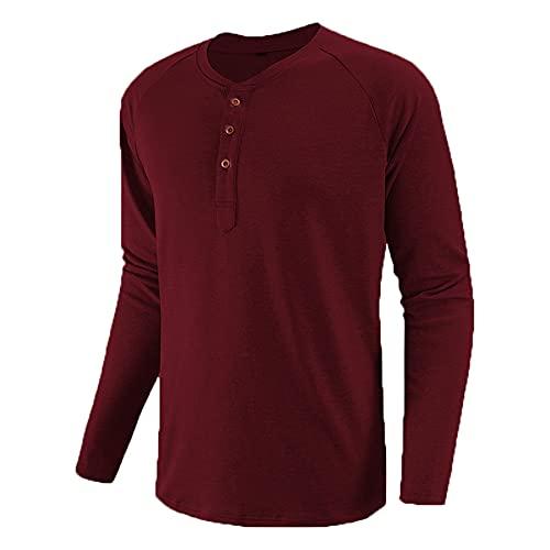 Camisetas de manga larga para hombre Primavera Otoño Casual O Neck T Shirt