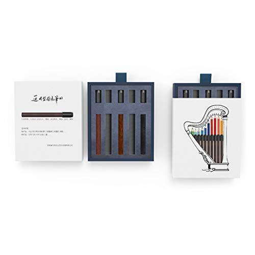 Portalápices de colores, soporte de madera para lápices de colores, lápices de carbono, dibujo más largo, para artistas, estudiantes, escuela