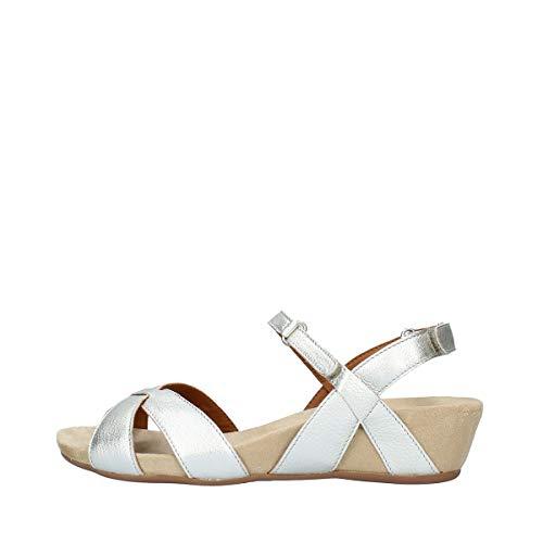 BENVADO Schuhe Frau Sandalen 28004007 Viola Platino Größe 39 Platinum