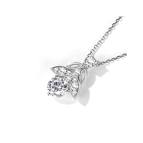 RXDZ Color de Las Mujeres Colgante Colgante con Cadena 925 Silver Women's Jewelry Accesorios