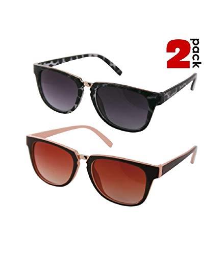 TradeShop - 2 Occhiali da Sole REFLEXXVISION UV 400 Donna Modello Catania Colori Assortiti - 12247