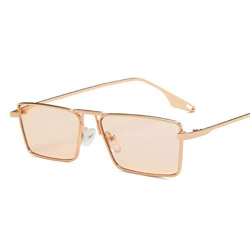 AOQW Gafas De Sol De Marco Estrecho De Moda Pequeños Marcos Hombres Y Mujeres Vintage Lente Verde Oliva Gafas De Sol Clear Lens Gafas De Ojos T4