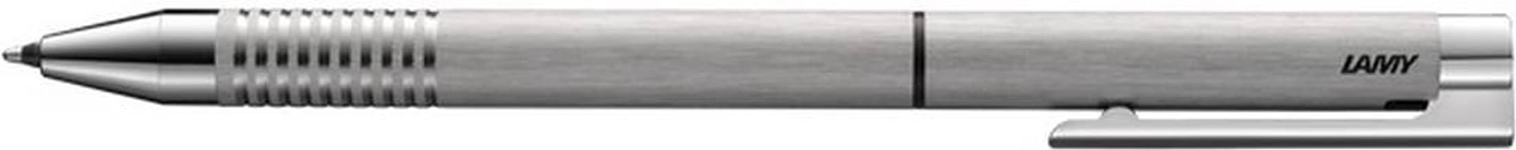 Lamy Unisex Logo Brushed Stainless Steel Twin Multisystem Pen - Silver