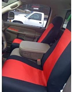 Unique Imports Classic Premium Bucket Cloth Car Truck Auto Seat Covers Red/Black Color