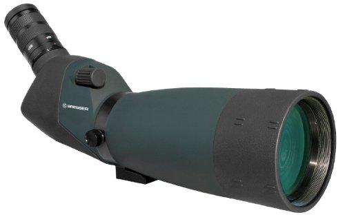 Bresser Spektiv Pirsch 20-60x80, hochwertiges Spektiv mit wasserdichtem Gehäuse und stufenlosem Zoom, 45° Beobachtungseinblick und Sonneblende inklusive Bereitschaftstasche und Trageriemen