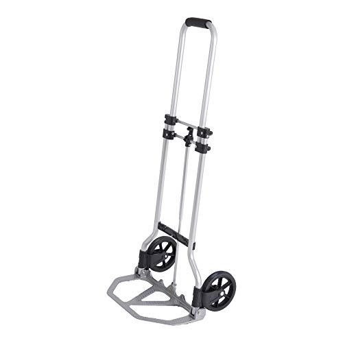 STIER Sackkarre Basic, klappbare Sackkarre, Belastbarkeit bis 45kg, Aluminium Transportkarre, Stapelkarre zum Transportieren, Vollgummi-Bereifung