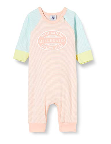 Petit Bateau 5356201 Ensemble de Pyjama, Multicolore (Verglas/Marshmallow Dnv), 6-12 Mois (Taille Fabricant:12MOIS) Fille