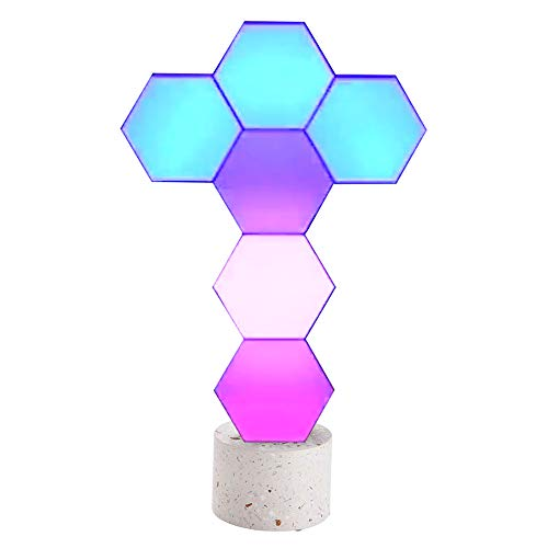 Yescom 6 Pack WiFi Smart LED Light Kit Modular Touch Sensitive Panel Lamp DIY Voice Control Cololight Home Decor