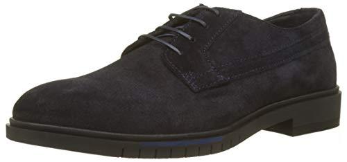 Tommy Hilfiger Zapatos de Cordones Oxford para Hombre, Azul