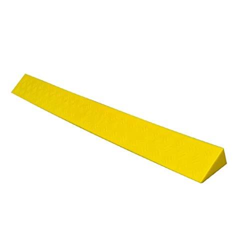 C-J-Xin Rampas de Color Amarillo, el umbral del hogar de Ancianos Silla de Ruedas rampas rampas Inicio Inicio Bienestar multifunción rampas para Perros (Size : 100 * 8 * 4CM)