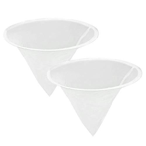 Gobesty Honigsieb Filter, 2 Stück Honigsieb Nylon, Honig Imkerei Sieb, Honig Filter Sieb Net, Honigsieb Feinsieb, Filter Fiber Net mit Metallkreis für Honig Verarbeitung, Extraktion und Filter
