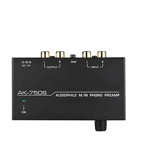 Preamplificador Phono – Preamplificador Mini preamplificador Platino Phono con control de Nivele, preamplificador Phono estéreo electrónico