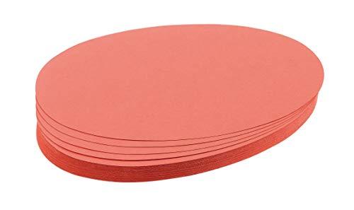 Franken UMZ 1119 07 (Moderationskarten Ovale, 11 x 19cm, 130 g/qm) 500 Stück, rot
