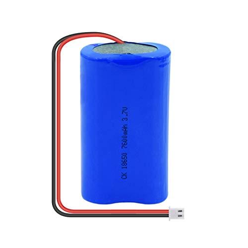 zhoudashu Batería De ión De Litio De 3.7v 7600mah 18650, Recargable con El Enchufe Xh para El Modelo Teledirigido del Coche 1PCS