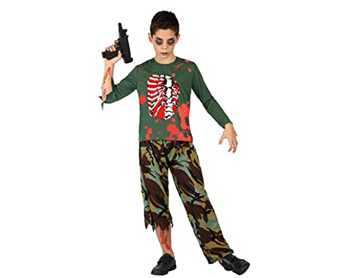 ATOSA disfraz militar sangriento nio infantil zombie 7 a 9 aos