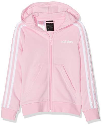 adidas Mädchen Yg E 3S Fz Hd Sweatshirt, Mehrfarbig (rosaut/Weiß), 128