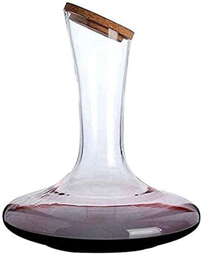 Decantadores Gafas de cóctel, Decantador de whisky Decantador de vinos de cristal - 100% Mano Blown CRISTAL CRISTAL CRISTAL, CARAFE DE VINO ROJO, Regalos de vino, Accesorios de vino 1.7L Whisky Decant