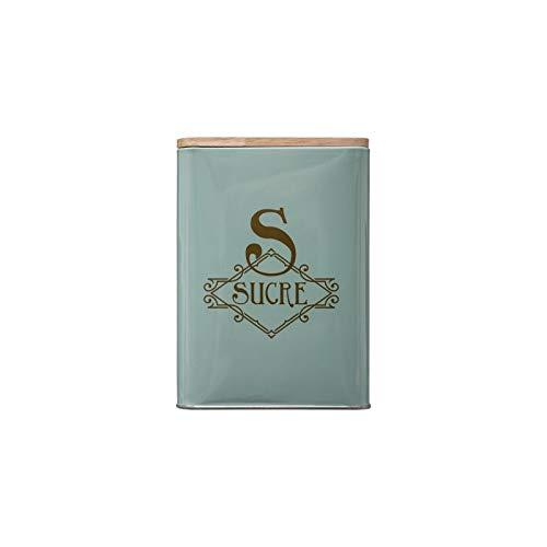 Boîte à Sucre En Métal - 10,5 X 17 Cm - Vert