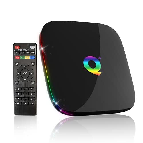Smart TV Box, Android TV Box 9.0 4GB RAM/32GB ROM 3D 6K@30fps Hochauflösende H6 Quad-Core Cortex-A53 CPU, Unterstützt 2,4GHz WiFi H.265