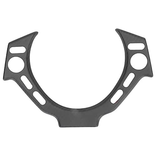 Qiilu volante marco decoración embellecedor mate seco fibra de carbono faro interruptor panel pegatina reemplazo para GTR R35 2012-2016