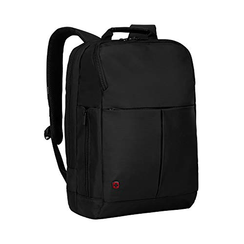 WENGER 601068 RELOAD 14 Inch Laptop Backpack, Padded Laptop Compartment with iPad/Tablet/eReader Pocket in Black (11 Litre)