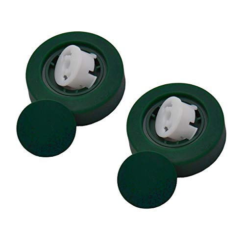 Geschikt voor Vorwerk elektrische tapijtborstel EB 350 L: Twee reservewielen incl. velgen en dop