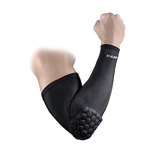 EULANT Ellbogenschoner Torwart mit dicken Schwammpolstern, Shooter Arm Sleeve, Armschutz für Basketball Fußball Volleyball