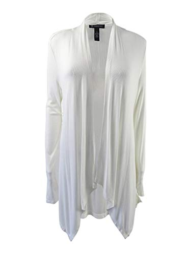 INC International Concepts Women's Lace-Up Cardigan (S, Bright White)