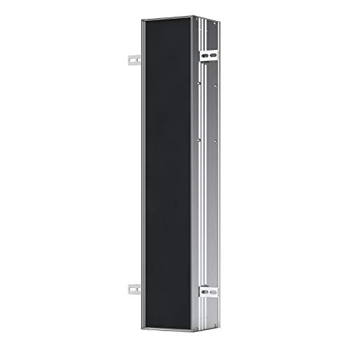 Emco asis Module Plus, WC-Modul - Unterputzmodell, mit Fächern für Reserverolle oder Feuchtpapierbox, WC-Papier und integrierter Toilettenbürgengarnitur, Türanschlag Links