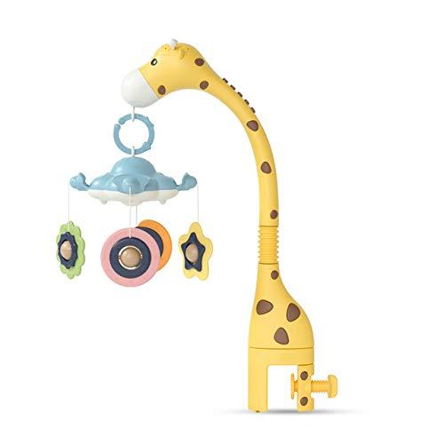 Mryishao Hochet de litBaby Rasseln Krippe Handys Spielzeughalter Drehen 360 ° Flexible Drehung Mobile Neugeborene Krippe Spieluhr Box Projektion Baby Baby Spielzeug